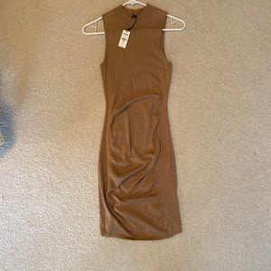 Express tan sleeve less dress